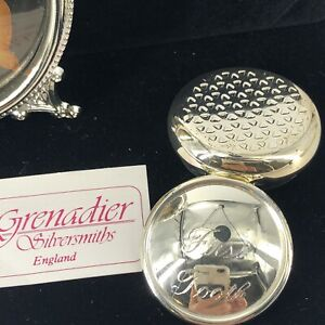 VTG BABY TOOTH BOX / PICTURE FRAME SET SILVER PLATE Grenadier Silversmiths UK