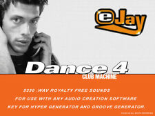 🥇eJay Dance 4 Sounds Library, WAV samples and loops, create music, production.