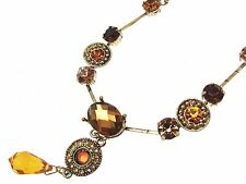 Statement Necklaces For Women Beaded Necklace Fashion Necklaces Brown INV014