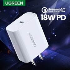 Ugreen USB C Fast Charger 18W PD 3.0 Type C Wall Charger For iPhone 11 / 11 Pro