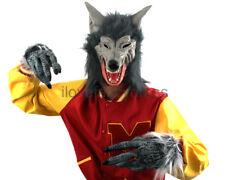 Gris Hombre Lobo Disfraz Halloween Vestido de Disfraz Lobo hombre-lobo de película de terror película
