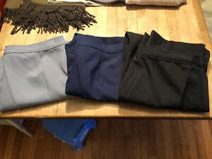 3 Pair Vintage Levi Bend Over Womens Polyester Slacks Black Gray Blue Sz 36 X 28