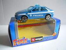 Modellino Auto Model Car BURAGO 1:43 Die Cast ALFA ROMEO 156 POLIZIA [MV16]