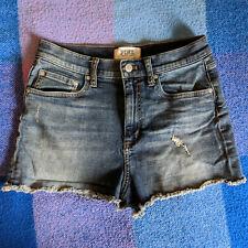 PINK Victoria's Secret Cut Offs Denim Shorts Blue Cotton High Rise