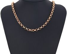 "9ct 9k Rose ""Gold Filled"" Men Ladies Belcher chain necklace Length 24"" "" Gift"""