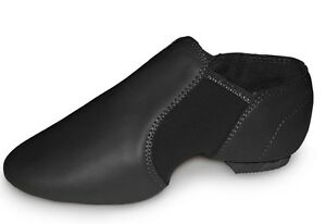 LEATHER Split Sole Pull on Jazz Shoes. Stretch arch. All Sizes. NEW. Roch Valley