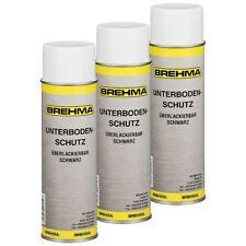 3x Unterbodenschutz Steinschlagschutz Spray schwarz 500ml lackierbar bitumenfrei