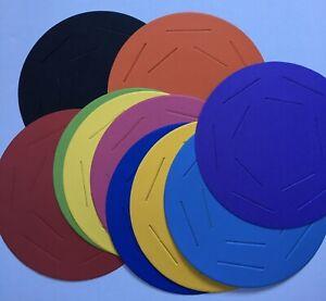 10x Pre-cut CARD disc Paper WEAVING cardboard circle kids craft wheel 10 colour