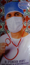 Instant Doctor 3 Piece Fancy Dress Kit (Hat, Mask & Stethoscope) Great 4 Stag Do
