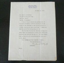 1927 Letterhead ~ President's Office University of Santa Clara CA ~ Signature