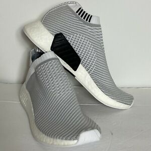 Adidas NMD CS2 PK Primeknit Running Shoes White Grey D96743 Men's Size 9 NEW