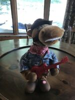 Horse With Guitar Cowboy Western Country Animated Singing Plush Doll Rare