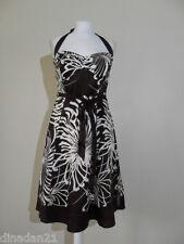 Debenhams women's halter neck dress, size 16, brown knee length, brand new