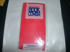 1 NEW Red Book Cover Stretchable Fabric Sox School College Student book sock