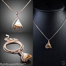 Elegante Luxus Gold Halskette Swarovski Element Geschenk Original Design /001