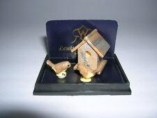 Reutter Porzellan Vogelhaus Garden Birdhouse Set Puppenstube 1:12 Art 1.744/5