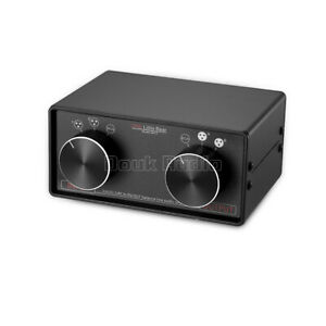 3-IN-3-OUT XLR Balanced / RCA Stereo Converter Audio Selector Box Passive Preamp