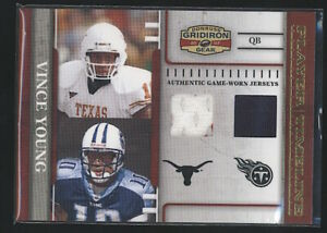 2007 Gridiron Gear VINCE YOUNG Timeline Dual Jersey Gold /100 Texas Longhorns