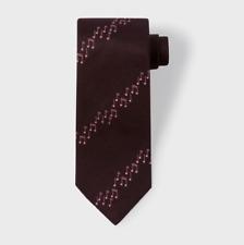 Paul Smith Tie - BNWT Men's Damson Musical Note Stripe Silk Tie RRP:£90.00