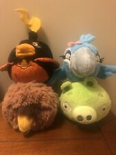 """Angry Birds 5"""" Plush -lot Of 4"""