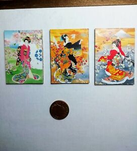 12th scale dolls house miniature Japanese prints miniatures hand made S
