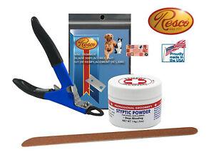 RESCO DELUXE SMALL-MEDIUM DOG NAIL CLIPPER SET-Styptic Powder,File,Extra Blade
