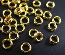 300pcs Gold Plated Split Rings 4mm E267