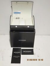 MOVADO MEN'S Watch-0605377-STAINLESS-BOX, CASE,LINKS,PINS-DOCS EXCELLENT COND FS