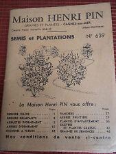 CATALOGUE GRAINES PLANTES JARDIN CAGNE SUR MER  ( ref 28 )