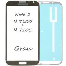 Frontglas Für Samsung Galaxy Note 2 N7100 Front Glas Grau + Klebefolie