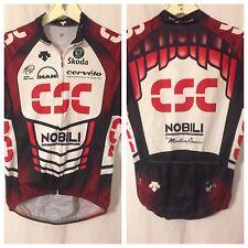 Descente Cycling Jersey Medium Black Red Full Zip Poly Riis 2006 Team CSC YGI