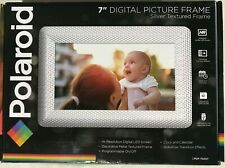 Polaroid PDF-750ST Digital Photo Frame Decorative Textured Silver Metal 7 Inch