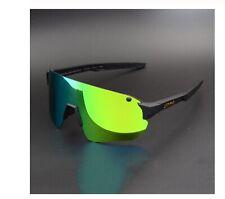 Occhiali da Sole Ciclismo Polarizzati 4 Lenti Sport MTB Bici Corsa con Custodia
