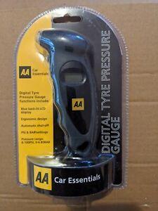 AA Car Digital Tyre Pressure Gauge Monitoring PSI BAR Car Van X1