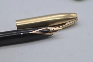 Lovely Rare Vintage Sheaffer's Pen For Men (PFM) V Fountain Pen - Black & Gold