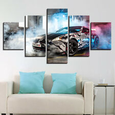 Nissan 370z Nismo Tuning Car 5 Pieces Canvas Wall Art Poster Print Home Deco