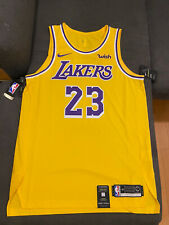100% Auténtico en tribunal Nike Lebron James Los Angeles Lakers Jersey Talla 48 (L)
