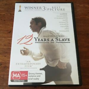 12 Years a Slave DVD R4 Like New! FREE POST