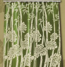 Tropical Floral Fabric Shower Curtain colorful Flora monstera Hawaii Florida