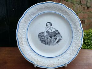 Young Queen Victoria plate.