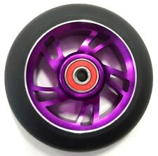 BulletProof Scooter Wheel Metal Alloy Core 100mm ABEC 9 Bearings PURPLE