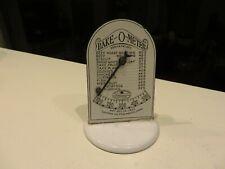 Vintage Bake-O-Meter White Porcelain Oven Thermometer 1922 Cooper Co Pequabuck