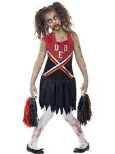 Zombie Cheerleader Girls Teens Halloween Fancy Dress Costume Teen Age 12 P9665