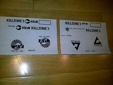 KILLZONE 3 STICKERS for PS3 Gun or System NEW *FREE SHIPPING TO USA & CANADA*