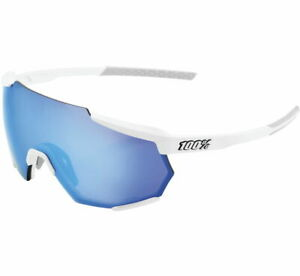 100% Racetrap Sunglasses Matte White, Blue Mirror 61037-000-75