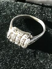 Ring Silver Marcasite Vintage Costume Jewellery (Unknown Period)