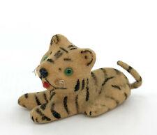 Max Carl Kunstlerschutz Tiger 1.5in Toy Figure 1950s Putz Monkey Head Label Vtg