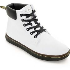 NEW Dr. Martens Maelly Padded Collar Boot, White Canvas, Women Size 6 (4 UK) $80
