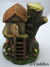 Fairy Garden TreeHouse Windows Doors Cottage Light Up Mushroom Ganz Fantasy Mini