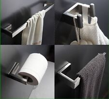 Brushed Nickel SUS 304 Bathroom Accessories Set Paper Holder Towel Bar of 4PCS